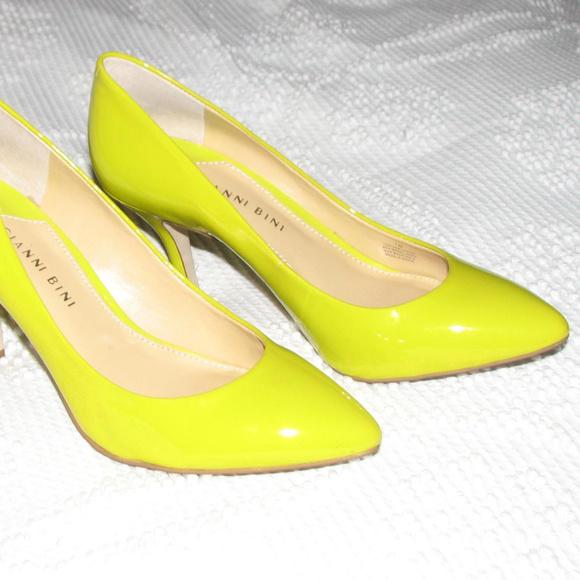 61a7e069b1f Gianni Bini Shoes - Gianni Bini yellow patent leather pumps